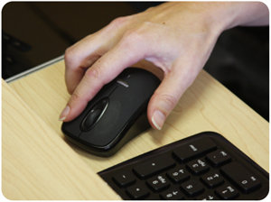 The mouse glides easily with or without a mouse pad