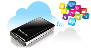 Transcend Information Storejet Cloud 128 GB USB 2.0 Hard Drive