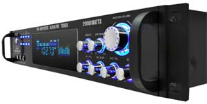 2,000 Watt Hybrid Pre-Amplifier with AM/FM Tuner