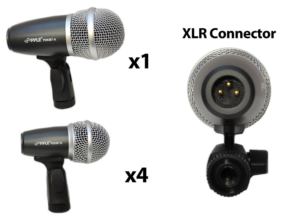Amazon.com: Pyle-Pro PDKM7 7 Microphone Wired Drum Kit ...