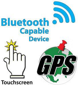 Touchscreen Bluetooth GPS