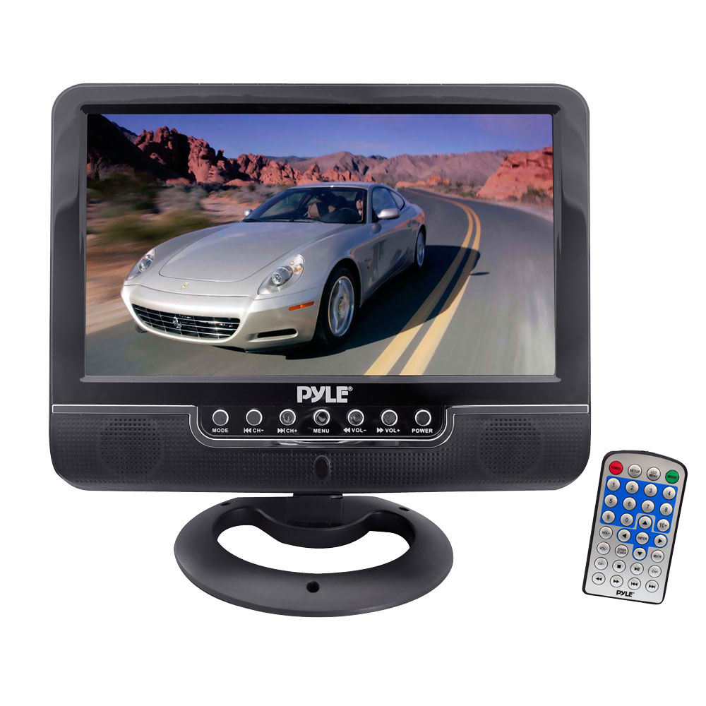pyle plmn9su 9 inch battery powered tft lcd monitor with mp3 mp4 usb sd mmc card. Black Bedroom Furniture Sets. Home Design Ideas