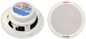 "2 Speakers Included: 6.5"" Dual Cone Marine Speakers"