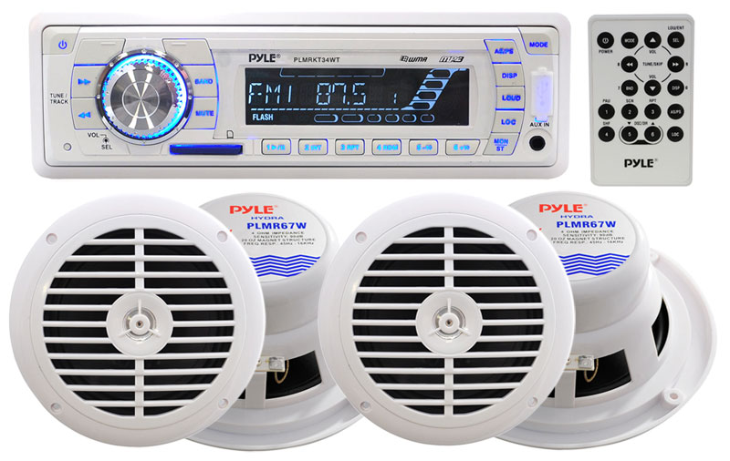 The Plmrkt34wt Includes A Full Featured Headunit Two Pairs