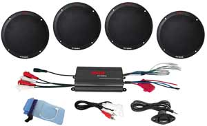 2-Channel Marine Speaker System with Amplifier