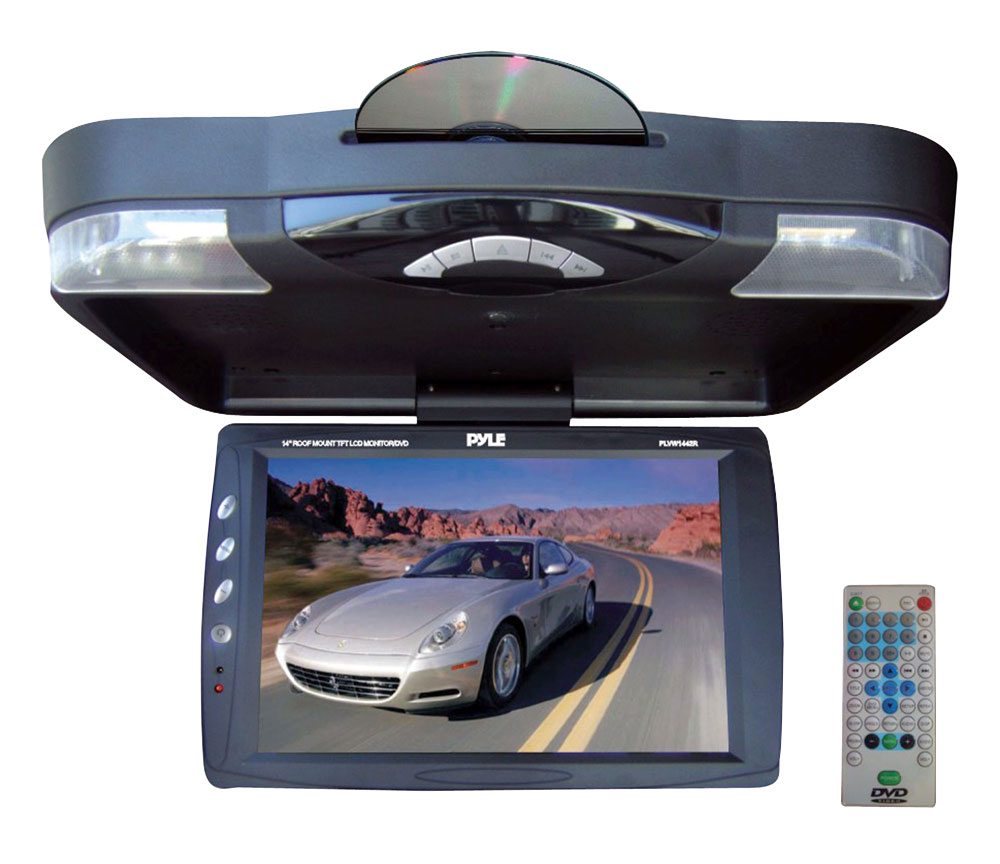 Pyle Plrd143if 141 Inch Car Roof Mount Dvd Player Front Axle Diagram Hd Wallpapers On Picsfaircom The Displays Stunning Video Its Widescreen 14 Lcd Monitor