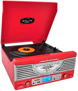 Retro Turntable Multimedia System