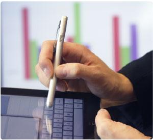 Le stylet Executive est idéal pour tous les appareils à écran tactile