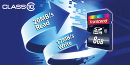 Transcend SDHC Class 10 Ultimate Speed