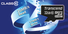 Transcend Class 10 microSDHC Cards