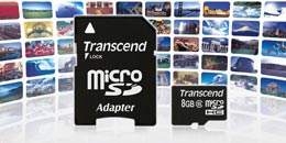 Transcend microSDHC card stores countless hours of music or thousands of photos