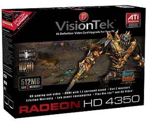 VisionTek ATI Radeon HD 4350 Graphics Card