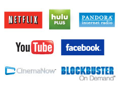WD TV Live Hub - logos