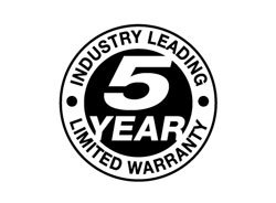 5-year warranty