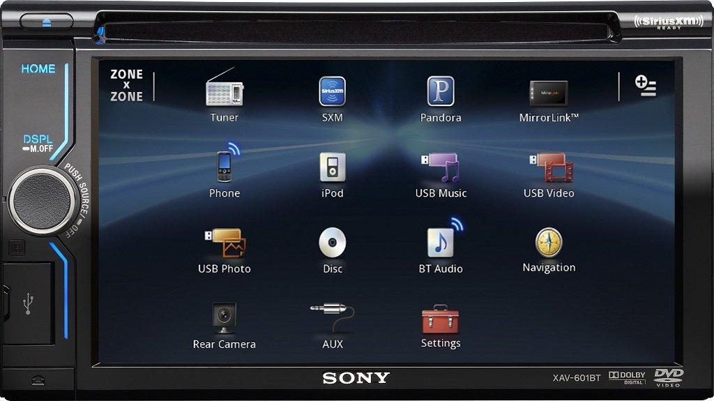 itm Sony XAVBT  Inch Bluetooth AV Receiver