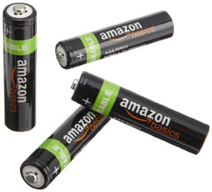 The AmazonBasics AAA Rechargeable Batteries