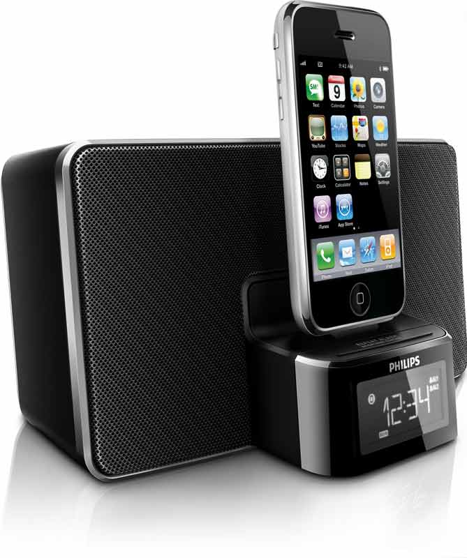philips dc220 clock radio dock for iphone ipod electronics. Black Bedroom Furniture Sets. Home Design Ideas