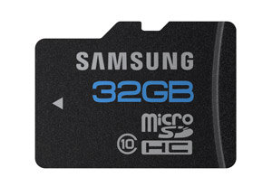 Samsung 32GB High Speed microSDHC Class 10 Memory Card with Adapter