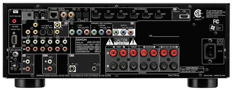 Denon AVR2312CI Integrated Network A/V Surround Receiver ...