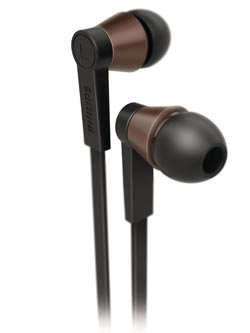 Philips CitiScape Underground in ear headset, black (SHE5105BK/28) Product Shot