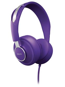 Philips CitiScape Downtown headset, purple (SHL5605PP/28) Product Shot