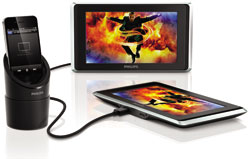 Philips TwinPlay 7-inch dual screen in car video viewer for iPod, iPhone & iPad - Product Shot