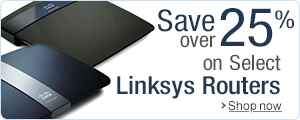 Save over 25% on Select Linksys Routers