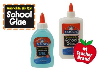 #1 Teacher Brand. Washable. No Run. School Glue
