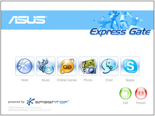 Access Internet in 10 Seconds with ASUS Express Gate