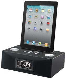 ihome id83bzc app enhanced 30 pin ipod iphone ipad alarm clock speaker dock mp3. Black Bedroom Furniture Sets. Home Design Ideas