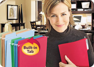 Hanging File Folders with built-in tabs