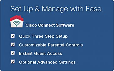 Easily Install and Manage your E4200v2 with Cisco Connect software