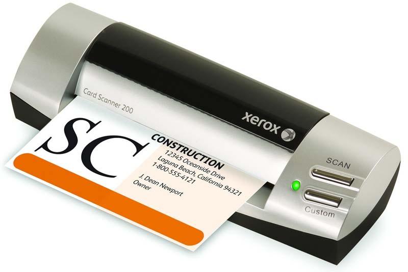 Amazoncom xerox xcard scan card scanner 200 business for Business card scanner to outlook