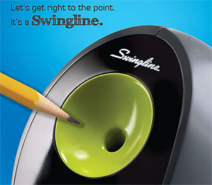 Swingline Pencil Sharpeners: Let's Get Right to the Point. It's a Swingline