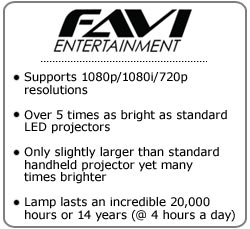 FAVI Entertainment RIOHD-LED-2 Mini Projector