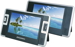 Sylvania SDVD8732 7-inch Dual-Screen Portable DVD Player