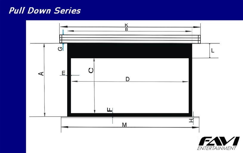 Elite Screens 4 3 Manual Pull Down Projection Screen