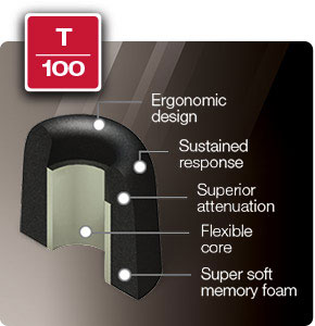 Comply Foam Premium Earphone Tips Isolation T-100 Series