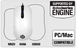 SteelSeries Kana Gaming Mouse, White