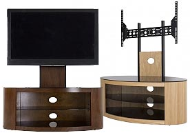 Combination TV Stand and Optional TV Mount - 1000 - Walnut Color