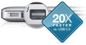 20x Faster vs USB 2.0