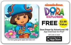 CTA Digital Dora the Explorer Universal Activity Tray for iPad App Card