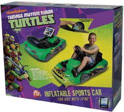 CTA Digital Teenage Mutant Ninja Turtles Inflatable Sports Car for iPad Package