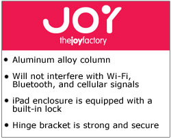 The Joy Factory Elevate Kiosks for iPad