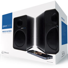 Grace Digital Bluetooth Bookshelf Speakers