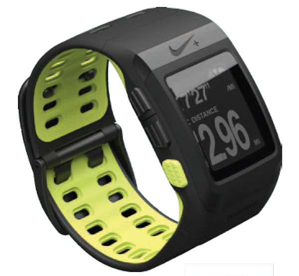nike plus sportwatch gps tom tom running noir volt