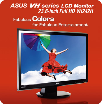 VH222H - Versatile Widescreen LCD monitor for Instant Multimedia Enjoyment