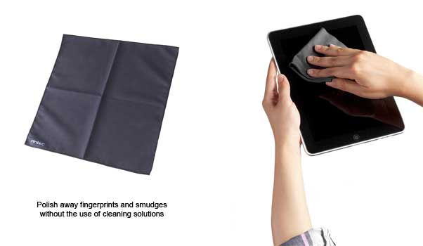 Simply rid your electronic devices and other surfaces of smudges and fingerprints with Antec Advance's XL Microfiber Cleaning Cloth