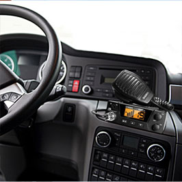 The Uniden Pro505XL mounts easily in almost any dash