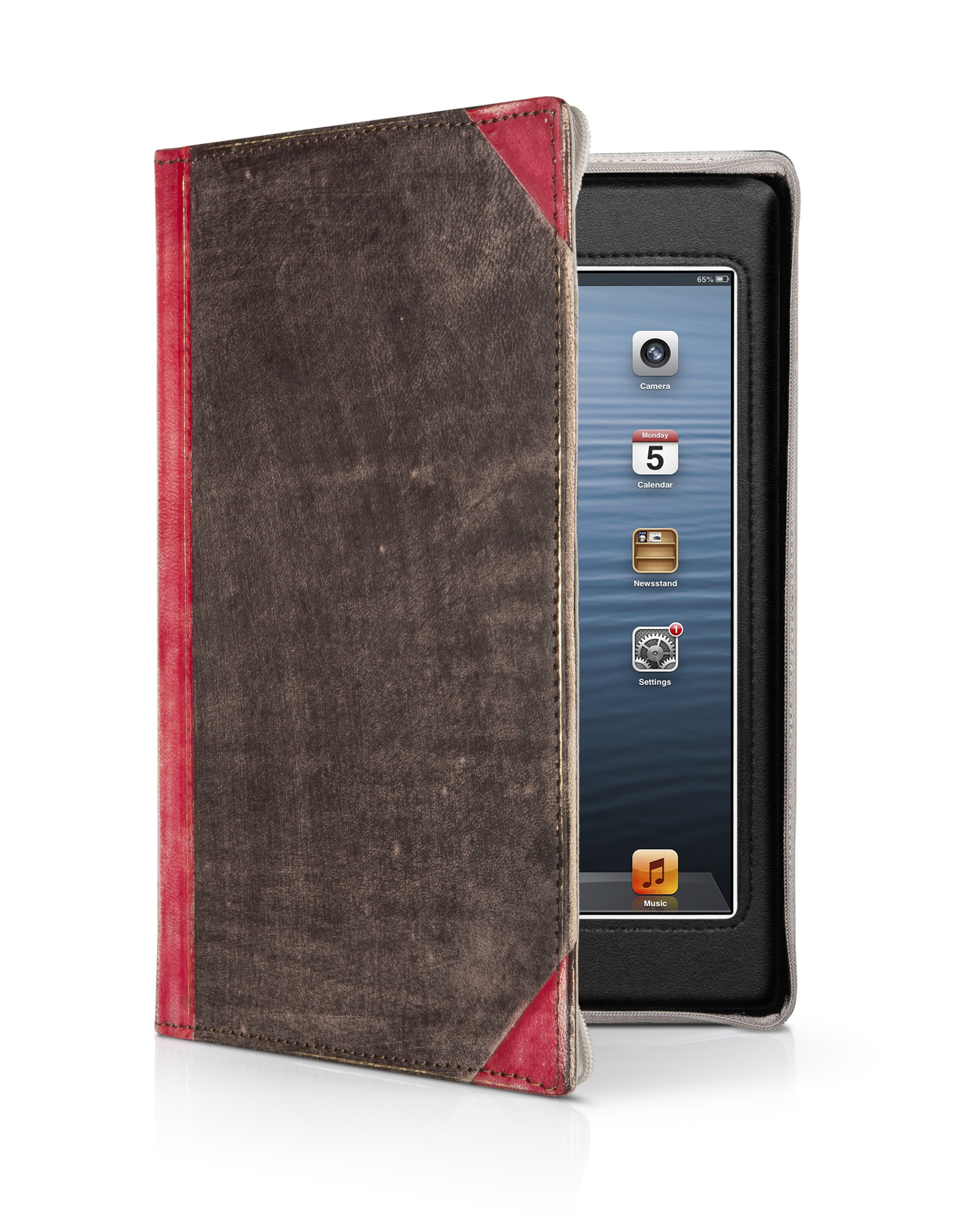Amazon.com: Twelve South BookBook for iPad mini, red | Vintage leather ...